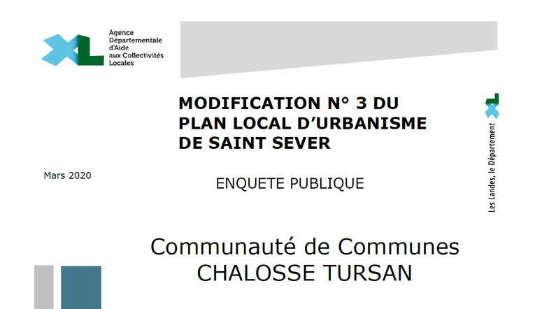 Modifications n°2 et 3 du Plan Local d'Urbanisme : enquête publique